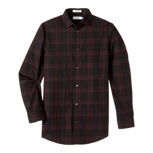 Calvin Klein Windowpane Plaid Shirt, Big Boys